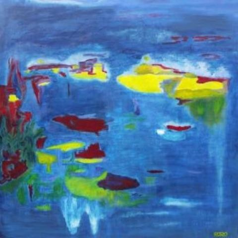 Chris Roro - BLUE HOMAGE TO GIVERNY